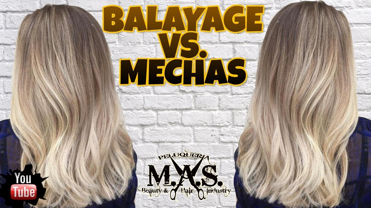 Mechas Balayage Vs Mechas Platinadas Hair Tutorial Step