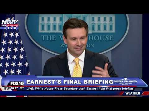 BITTERSWEET: Josh Earnest Delivers PERSONAL THOUGHTS Before FINAL White House Briefing (FNN))