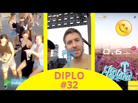 Diplo With Calvin Harris Mixing For Hardfest In Pomona - Snapchat - July 31 2016
