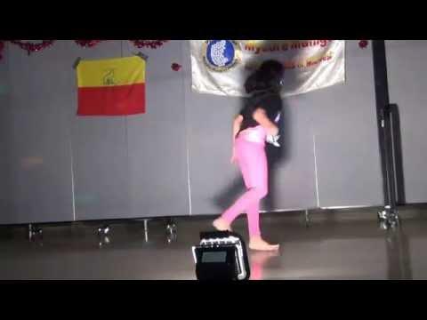 Kruthi dancing for Veera Kannadiga movie song - MMKK 2014