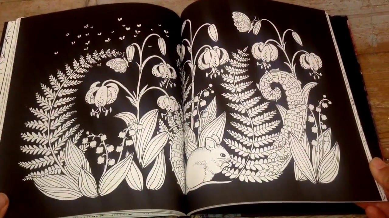Blomster Mandala Colouring Book Flip Through