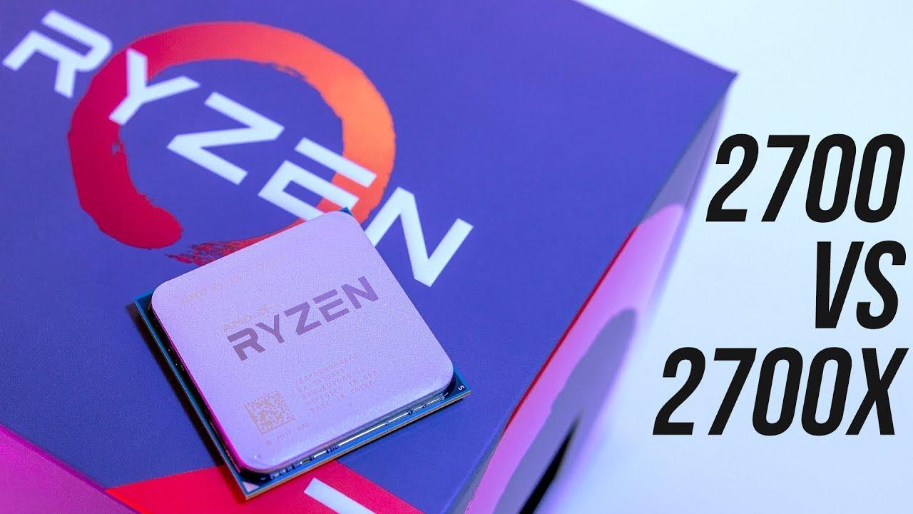 AMD Ryzen 7 2700 vs 2700X - CPU Benchmark Comparison