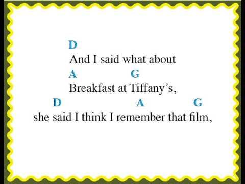 Easy Ukulele - Breakfast at Tiffany's (Chords and Lyrics)