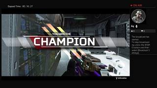 Apex Legends. Championship win with no kills required.