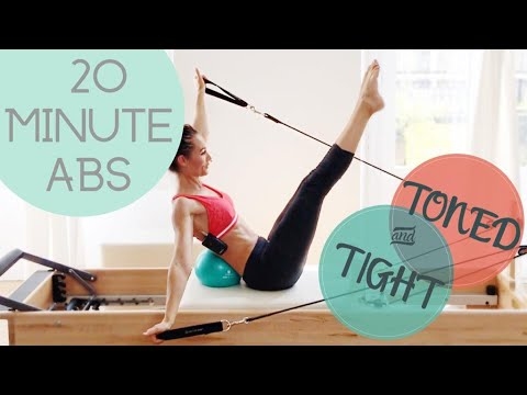 20 Minute Tight & Toned ABS PILATES REFORMER WORKOUT PREVIEW