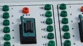 II PUC    Electronics   Practicals   Clocked SR Flipflop using IC 7400- 08