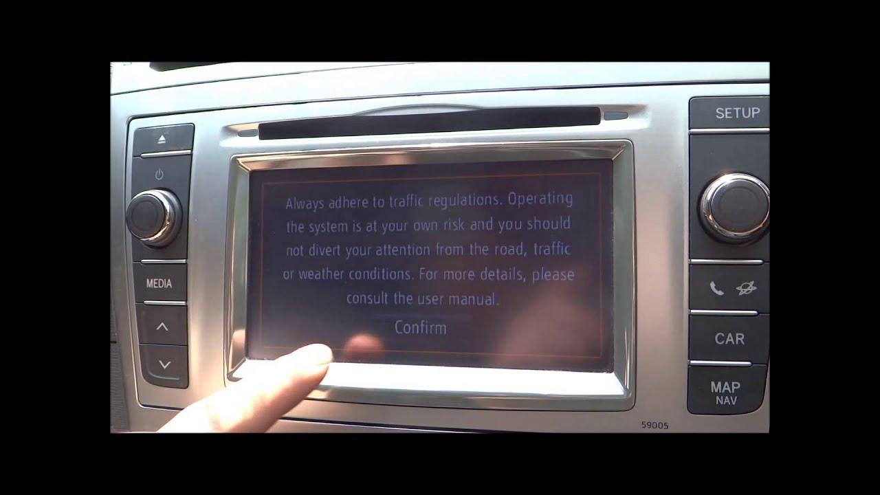 2013 Toyota Avensis Tr Cd Player Stereo Sat Nav System