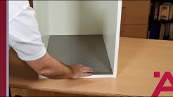 Installing a Cabinet Protective Mat