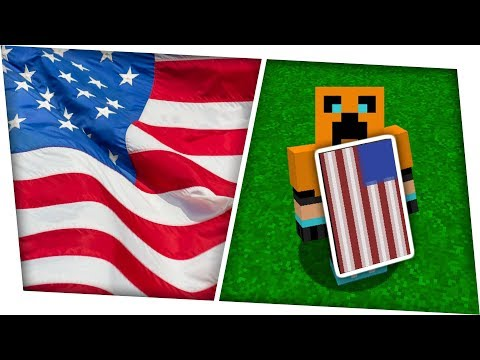 How To Make An American Flag Banner & Cape In Minecraft | Tutorial