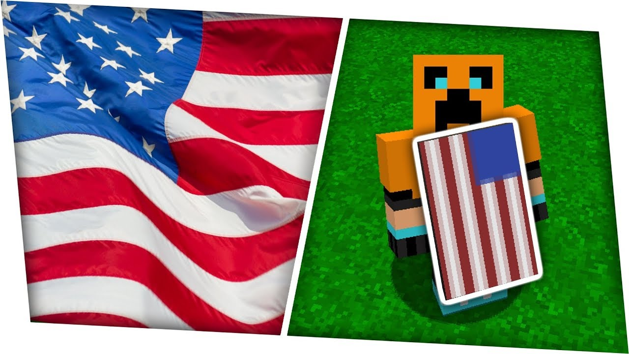how to make an american flag banner cape in minecraft tutorial