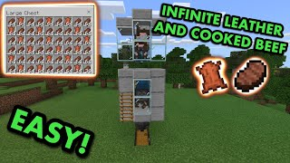 SIMPLE 1.17 AUTOMATIC CΟW FARM TUTORIAL in Minecraft Bedrock (MCPE/Xbox/PS4/Nintendo Switch/PC)