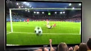 SHARP: video commercial per EURO 2012, su prodotti TV AQUOS