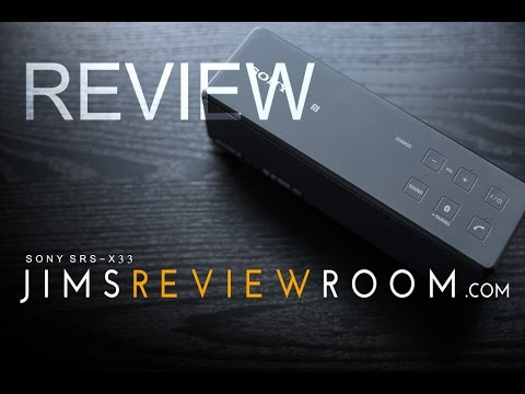 sony srs x33 bluetooth speaker review youtube