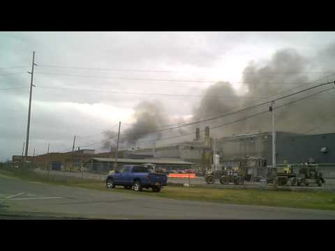 Fire At Massena New York Aluminum Company Of America Plant
