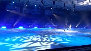 Ледовое шоу Ильи Авербуха в Новосибирске, выступают Татьяна Тотьмянина и Максим Маринин
