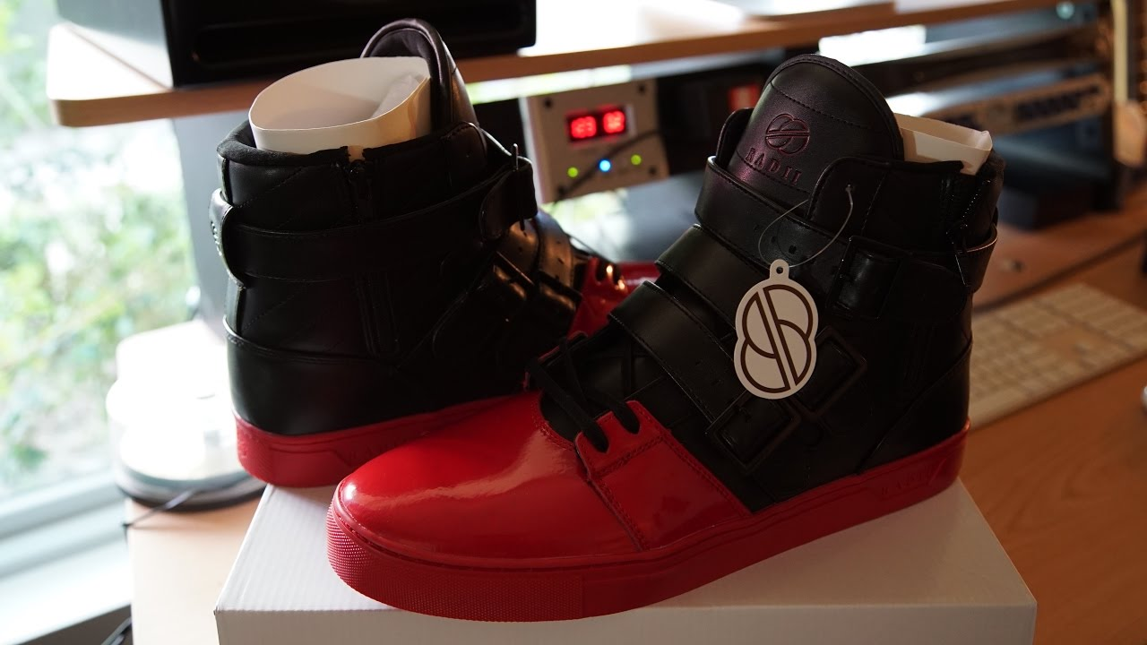 Radii Straight Jacket Patent Blood Dipped Toe ON FEET