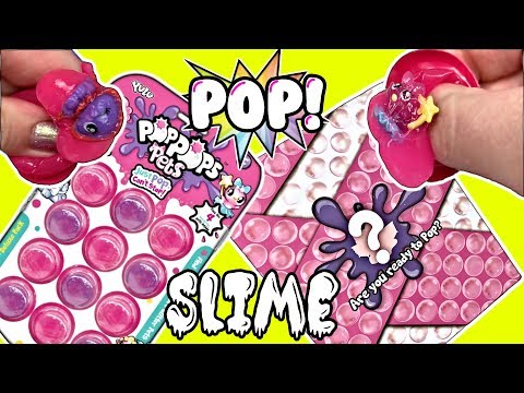 Pop Pops Pets | POPPING BUBBLES OF SLIME | Bubble Wrap Pods Of Slime + Tiny Squishy Surprises Inside