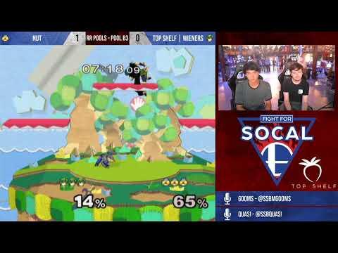 Fight For SoCal 8 - Nut (Sheik) VS Top Shelf | Wieners (Marth) - SSBM - RR Pools (B3)