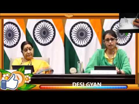 India is lucky to have Sushma Swaraj as External Affairs minister ! Watch this Video !