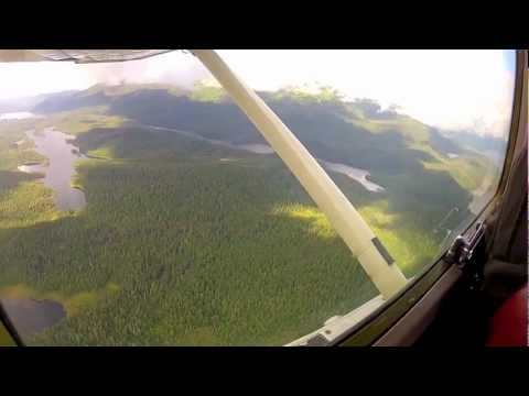 Flying Through the Mountains in Alaska