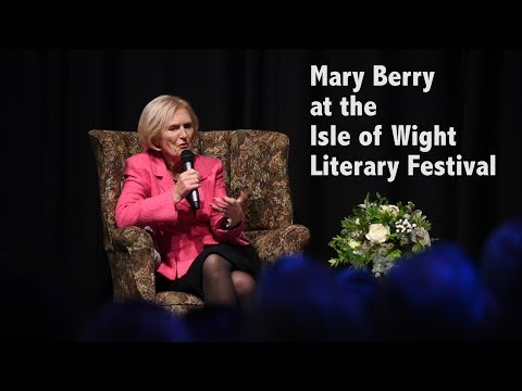 Mary Berry at the Isle of Wight Literary Festival