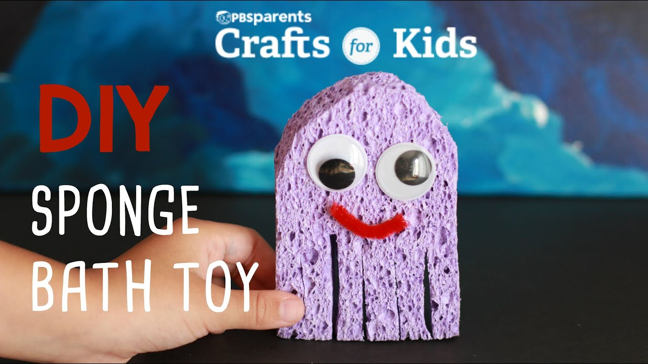 DIY Sponge Bath Toy | Crafts for Kids | PBS Parents - YouTube