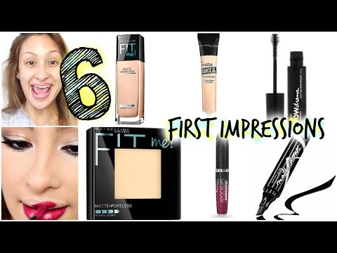 6 First Impressions 100% Drugstore Makeup NEW products