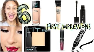 6 First Impressions!!!! 100% Drugstore Makeup NEW products