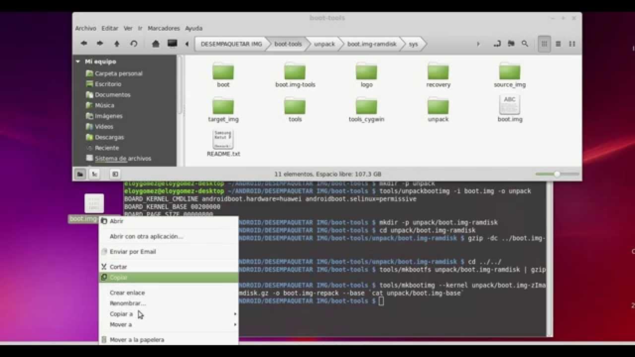 Desempaquetar y Empaquetar BOOT IMG ANDROID (Kernel) LINUX