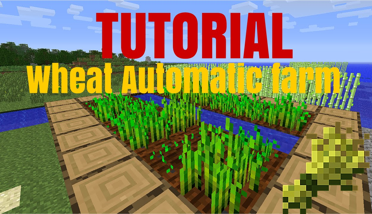 how to make an automatic wheat farm in minecraft ps4