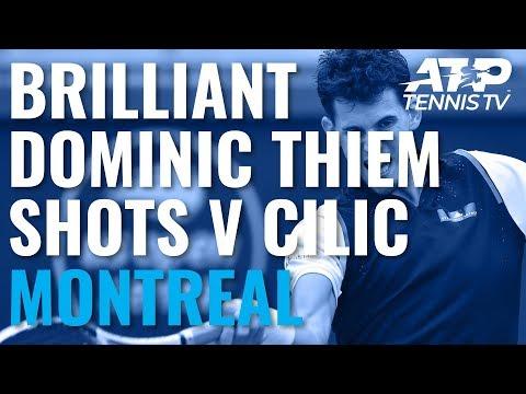 Dominic Thiem Brilliance in Win v Cilic | Coupe Rogers 2019