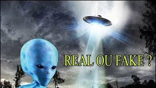 Real ou fake,disco voador pousa e duas criaturas saem de dentro!