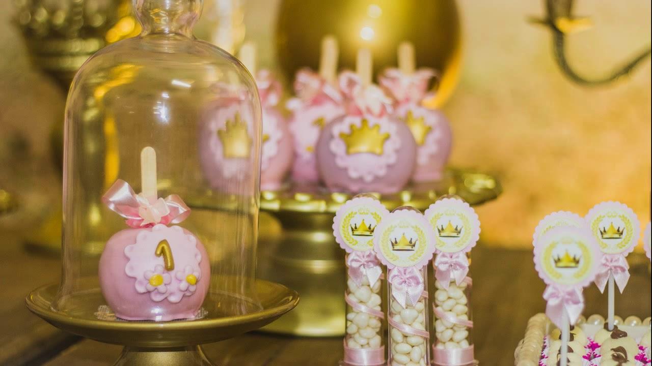 Decoraç u00e3o Realeza Luxo Festa de um ano YouTube -> Decoração De Festa Infantil Realeza Luxo