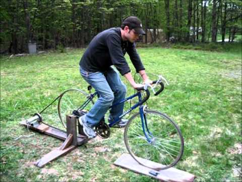 Homemade Bicycle Generator - people power for off grid living