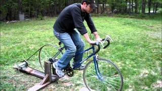 Repeat youtube video Homemade Bicycle Generator - people power for off grid living