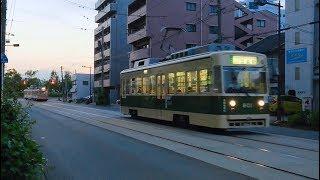 ⚠️広島電鉄800形801号&3000形3007号 広島港〜元宇品口