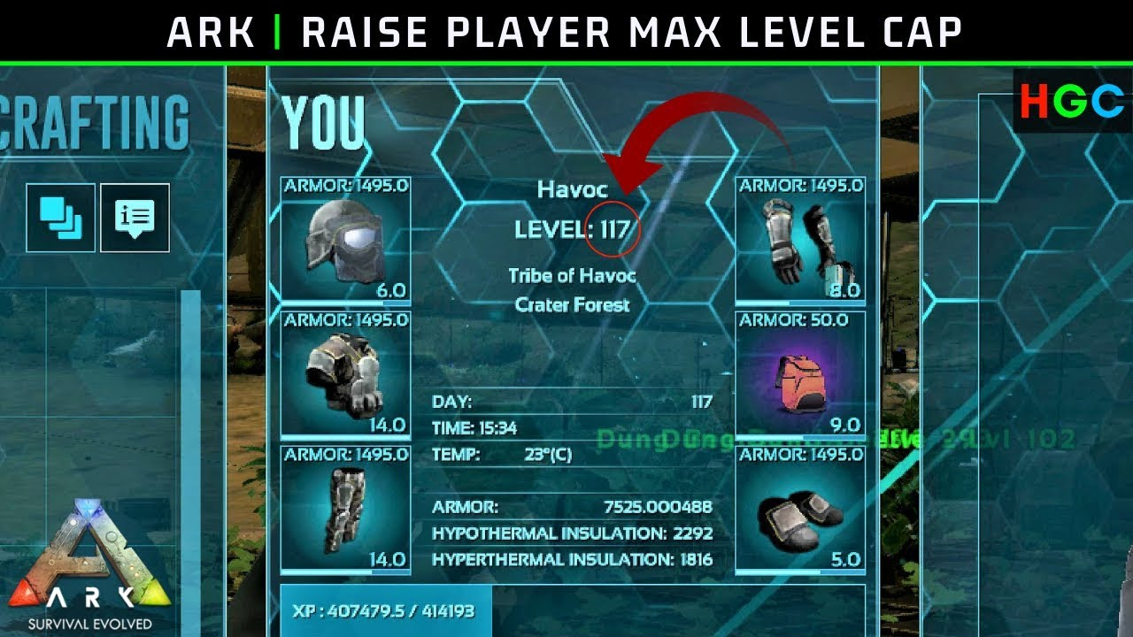 Ark: Raise Player Max Level Cap (PC/Steam)