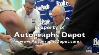 Nolan Ryan signing autographs in Austin, TX