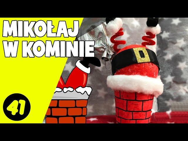 Mikołaj w kominie | Ozdoba świąteczna | Mikołaj wpadł do komina | Santa in chimney |Zrób to sama #41