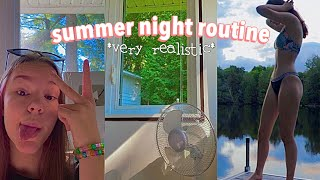 my realistic summer night routine (hair care + skin care routine)