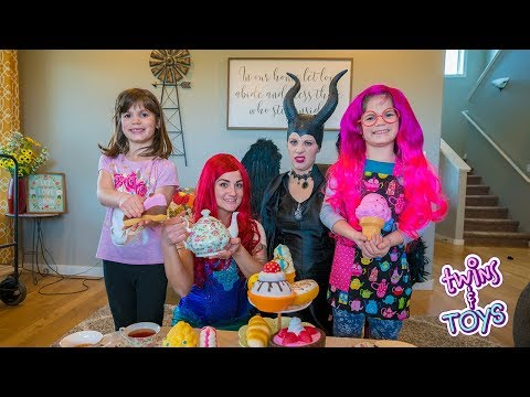 Maleficent gets OUT OF JAIL, has a tea party with Little Mermaid ARIEL!!