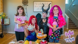Maleficent gets OUT OF JAIL has a tea party with Little Mermaid ARIEL