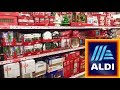 ALDI CHRISTMAS DECORATIONS HOME DECOR ORNAMENTS - SHOPPING SHOP WITH ME STORE WALK THROUGH 4K