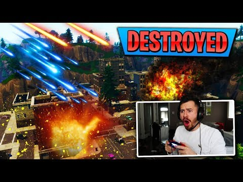 THE METEORS ARE HITTING TILTED TOWERS TODAY?!?  FORTNITE BATTLE ROYALE WITH TEAM ALBOE!!