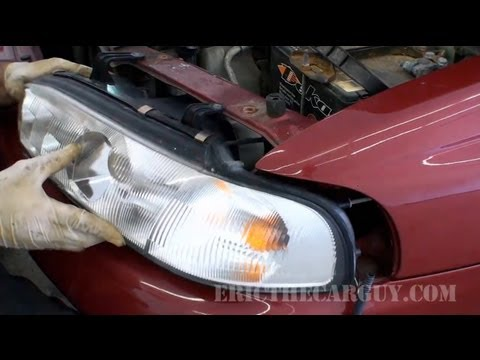 1997 Subaru Legacy JDM Headlight Installation - YouTube