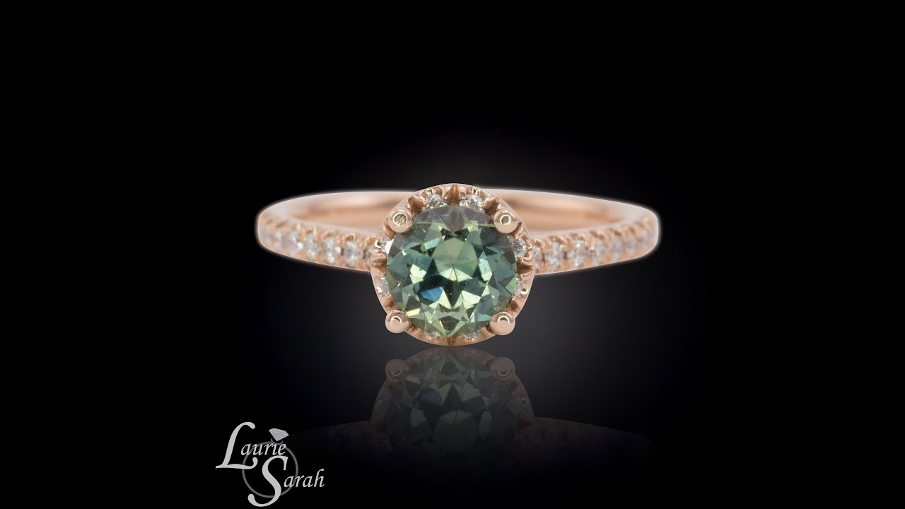 Green Diamond Eternity Ring