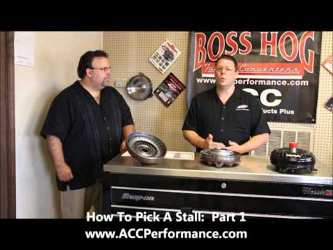 ACC Performance Products Plus - How To Pick A Torque Converter Stall Range - Part 1