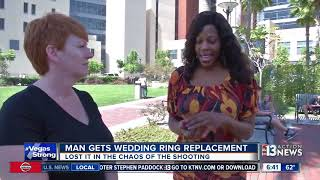 Man gets wedding ring replacement after losing original in mass shooting