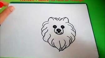 Hundeportrait: Wie zeichnet man einen Hund. Symbol Des Jahres 2018. Sehr einfach