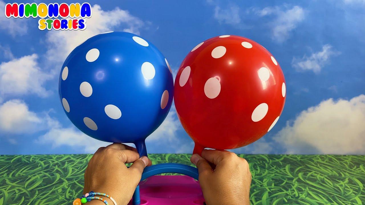 Globos coloridos para niños 🎈🎈 Amarillo Rojo Verde Azul y mas ✨ Videos educativos - Mimonona Stories